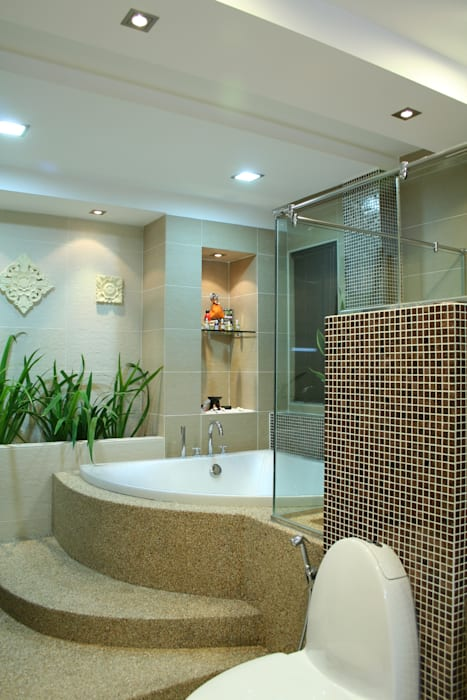 Tropical Retreat | SEMI-DETACHED Tropical style bathrooms by Design Spirits Tropical