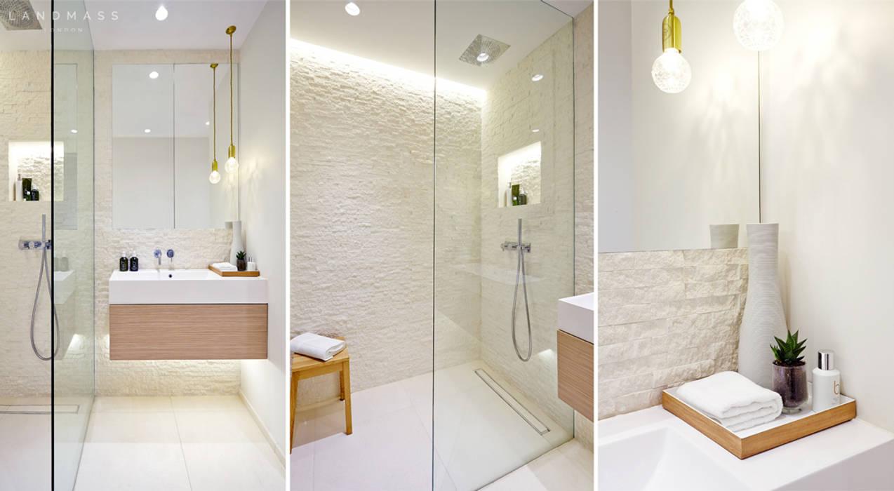 Baños de estilo  por Landmass London, Industrial
