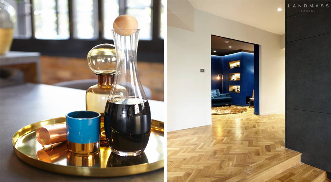 DETAILS/SNUG ROOM Industrial style media room by Landmass London Industrial
