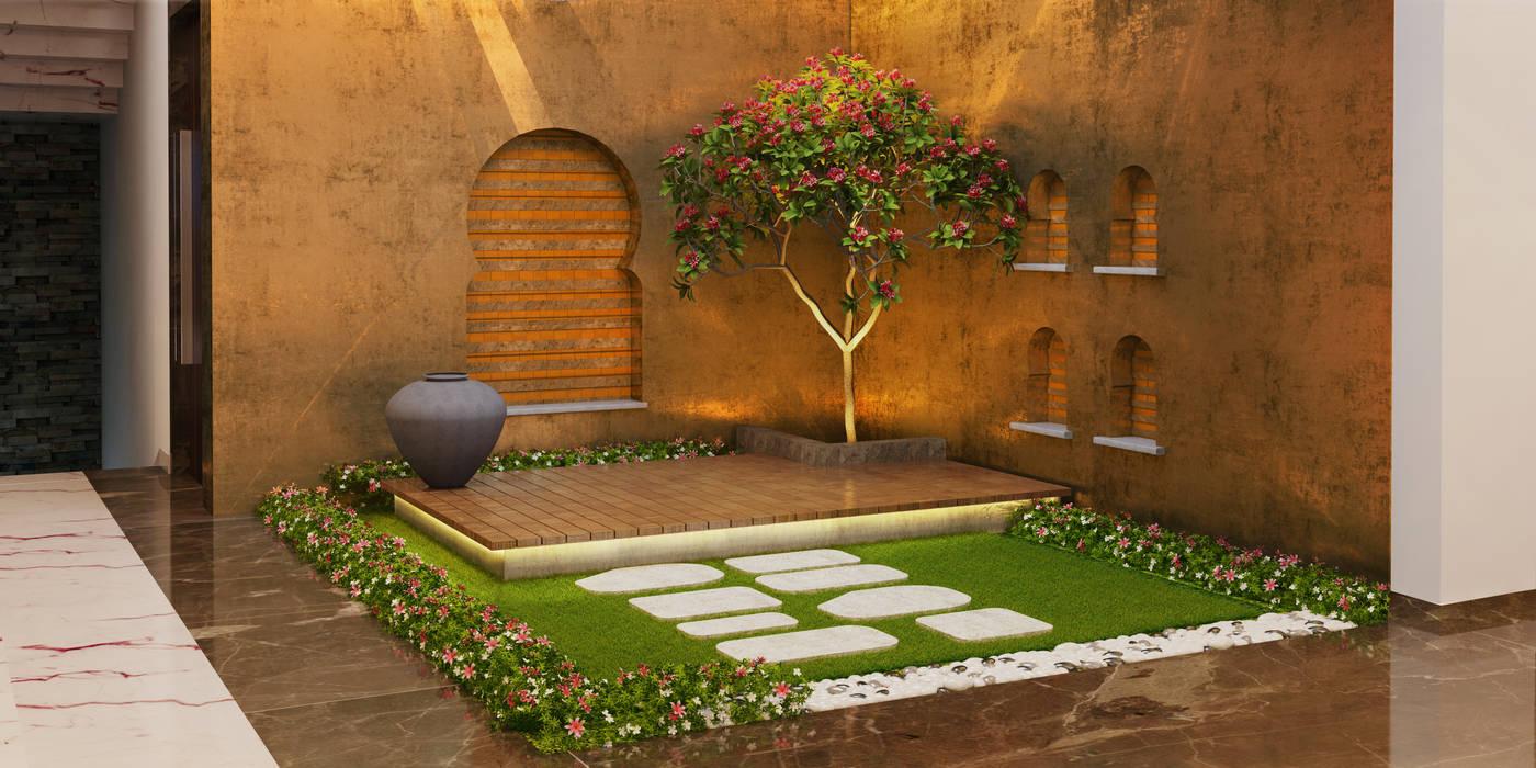 Bungalow at Undri:  Garden by Space Craft Associates,