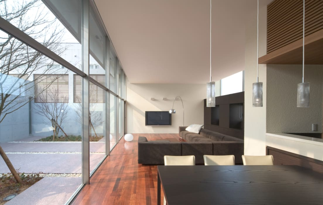 Atelier Square Soggiorno moderno Bianco