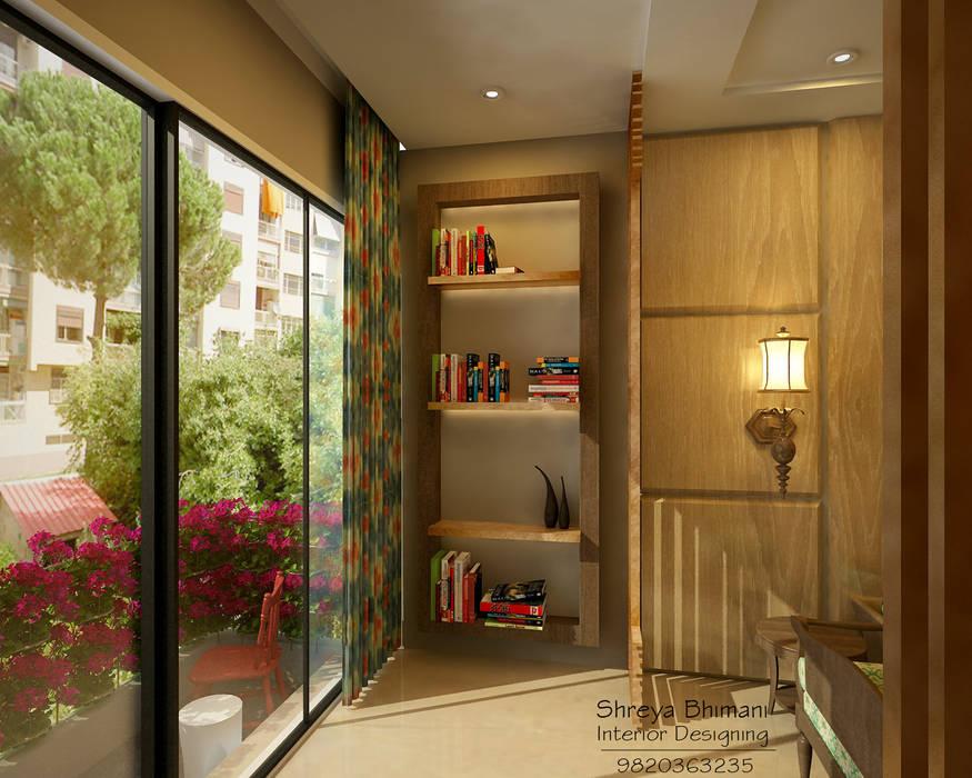 Balcony:  Living room by Shreya Bhimani Designs