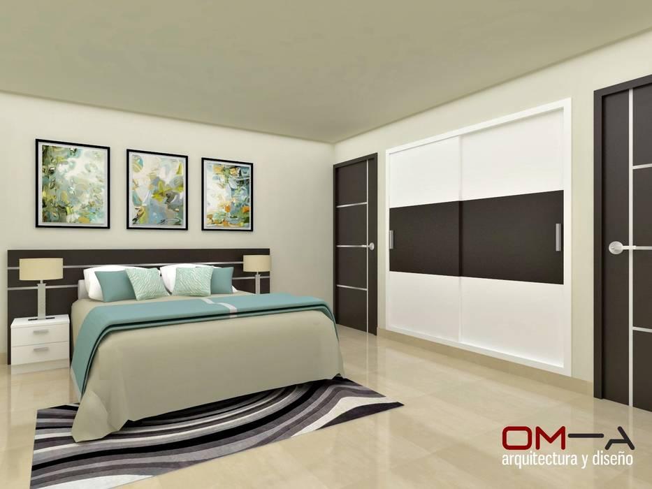 Schlafzimmer von om-a arquitectura y diseño, modern | homify