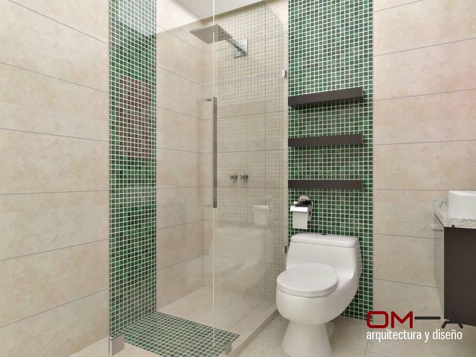 Diseño interior en apartamento, espacio baño secundario Baños de estilo moderno de om-a arquitectura y diseño Moderno