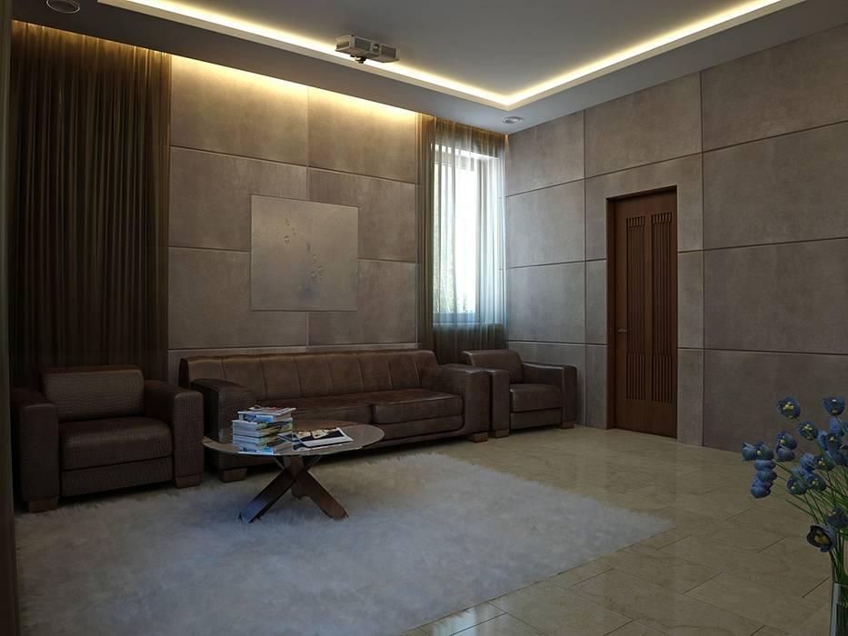 Modern Living Room by Design studio of Stanislav Orekhov. ARCHITECTURE / INTERIOR DESIGN / VISUALIZATION. Modern