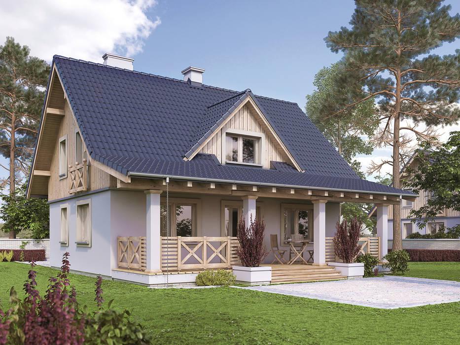Wizualizacja projektu domu Malinowy Wiejskie domy od Biuro Projektów MTM Styl - domywstylu.pl Wiejski