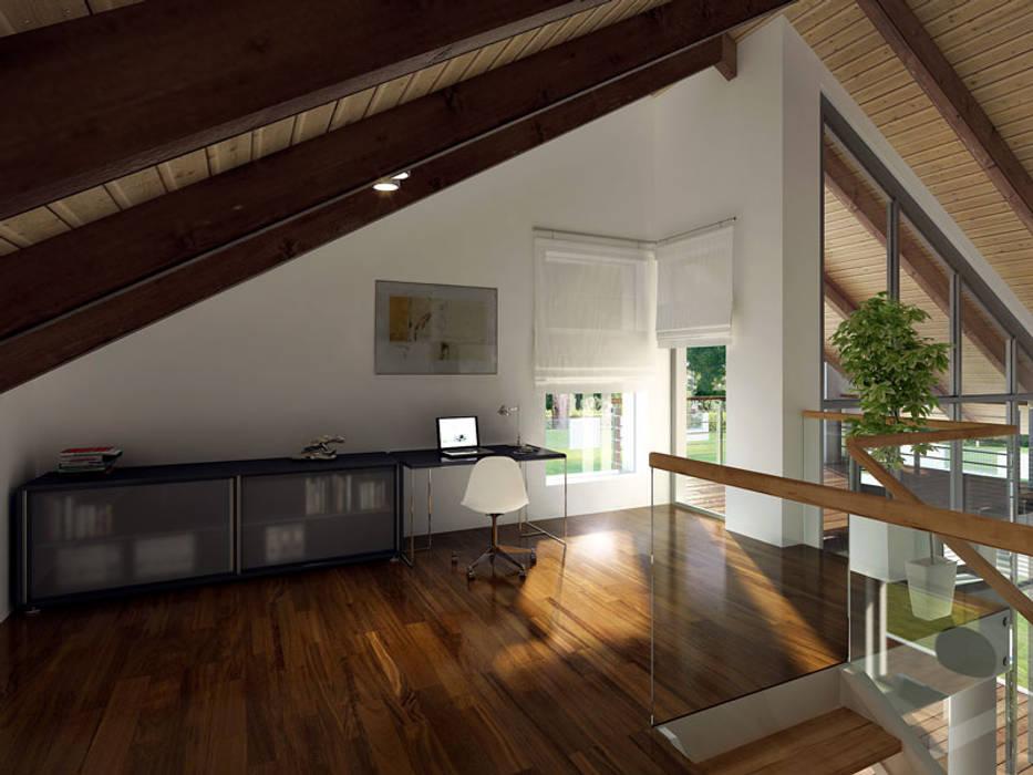 Pasillos, vestíbulos y escaleras modernos de Biuro Projektów MTM Styl - domywstylu.pl Moderno