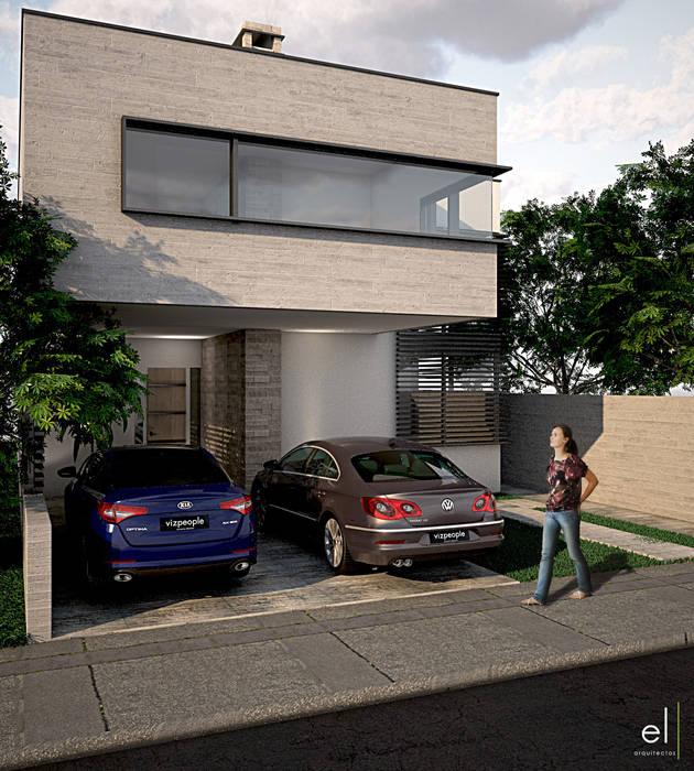 Casas modernas de ERIKA LIN Moderno Piedra