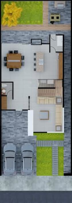 ERIKA LIN Modern Houses Concrete White