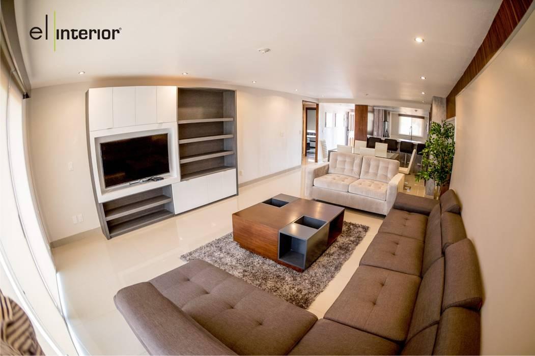 Moderne wohnzimmer von el interior modern holz ...