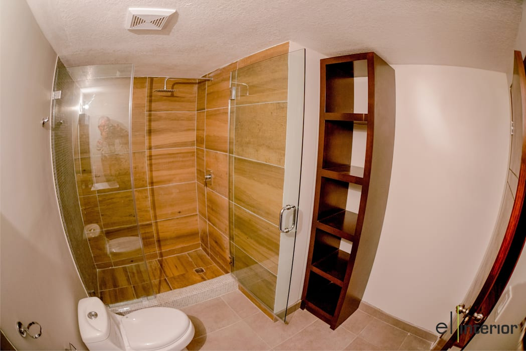 Baños de estilo moderno de el interior Moderno Madera Acabado en madera