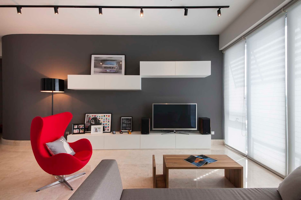 Ruang Keluarga Minimalis Oleh Eightytwo Pte Ltd Minimalis
