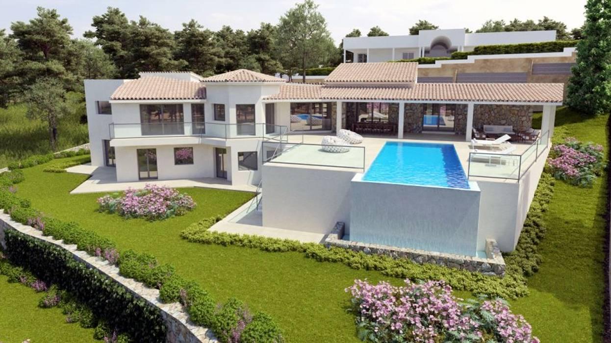 Fachada Actual ABAD Y COTONER, S.L. Casas de estilo minimalista