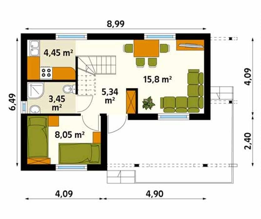 Paredes y pisos de estilo rural de Biuro Projektów MTM Styl - domywstylu.pl Rural