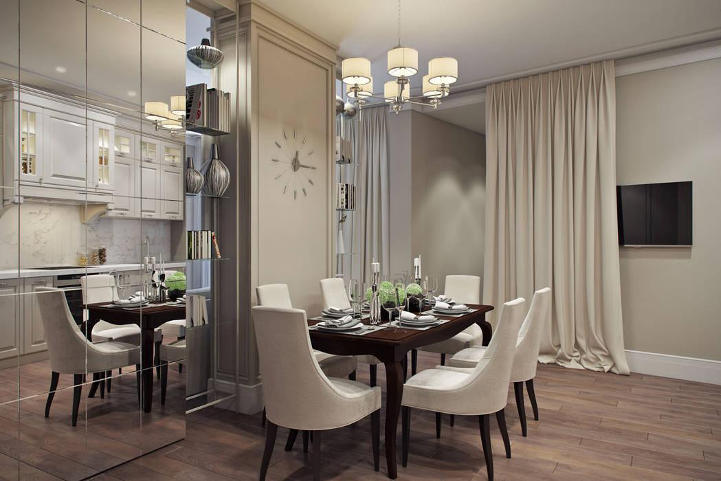 """Квартира в жк """"BARRIN HOUSE"""" Кухня в классическом стиле от Студия Семена Вишнякова '1618 ROOM' Классический"""