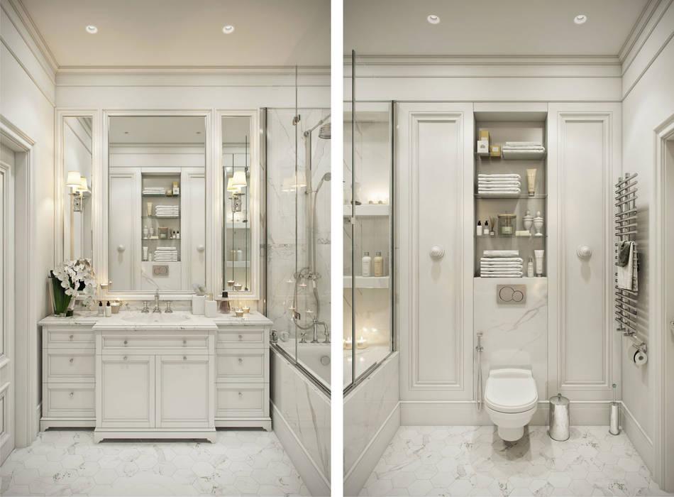 "Квартира в жк ""BARRIN HOUSE"": Ванные комнаты в . Автор – Студия Семена Вишнякова '1618 ROOM'"