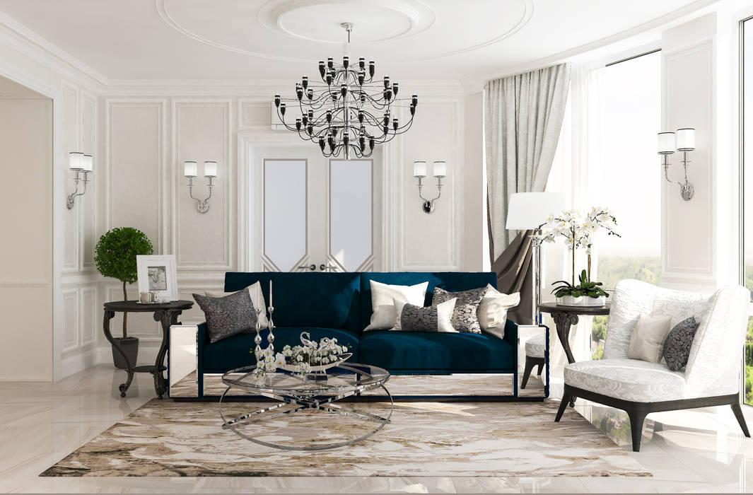 Ruang Keluarga oleh Студия дизайна Дарьи Одарюк, Klasik