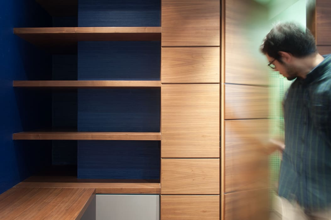 Apartamento Qvadra Sebucán: Paredes de estilo  por VODO Arquitectos