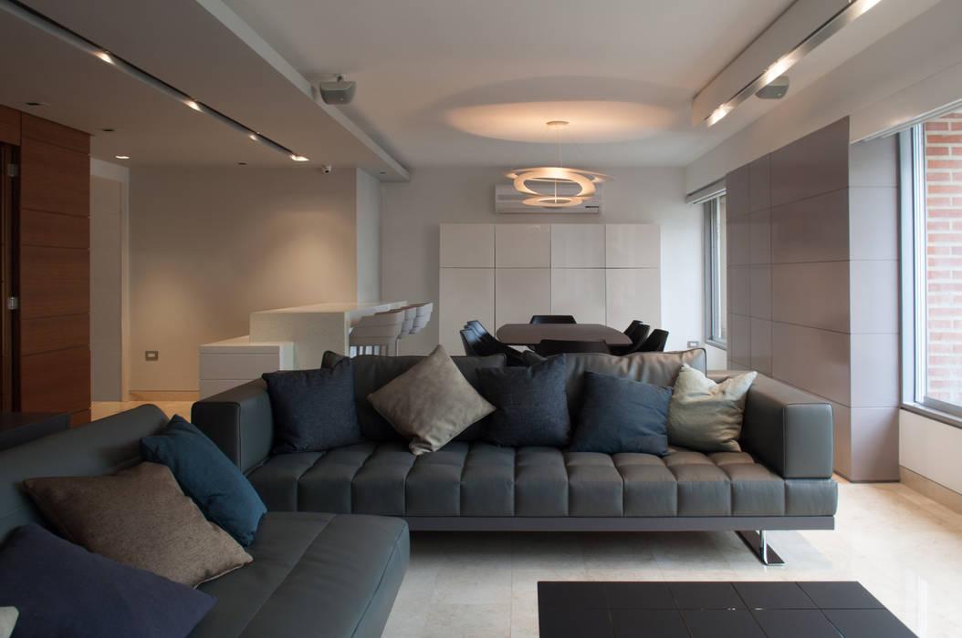 Apartamento Qvadra Sebucán: Salas / recibidores de estilo  por VODO Arquitectos