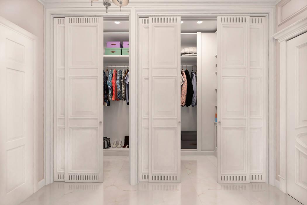 Трехкомнатная квартира в ЖК Триколор: Гардеробные в . Автор – GM-interior,