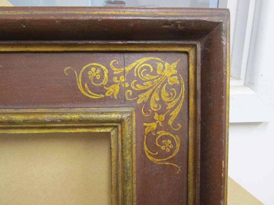 Our reproduction Italian 17th century cassetta frame with corner & centre arabesques Perceval Designs SoggiornoAccessori & Decorazioni