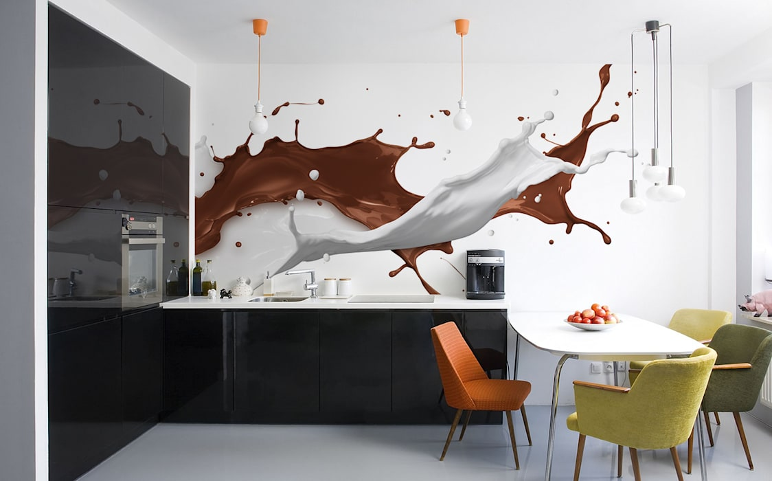 Milk and chocolate Modern Kitchen by Pixers Modern
