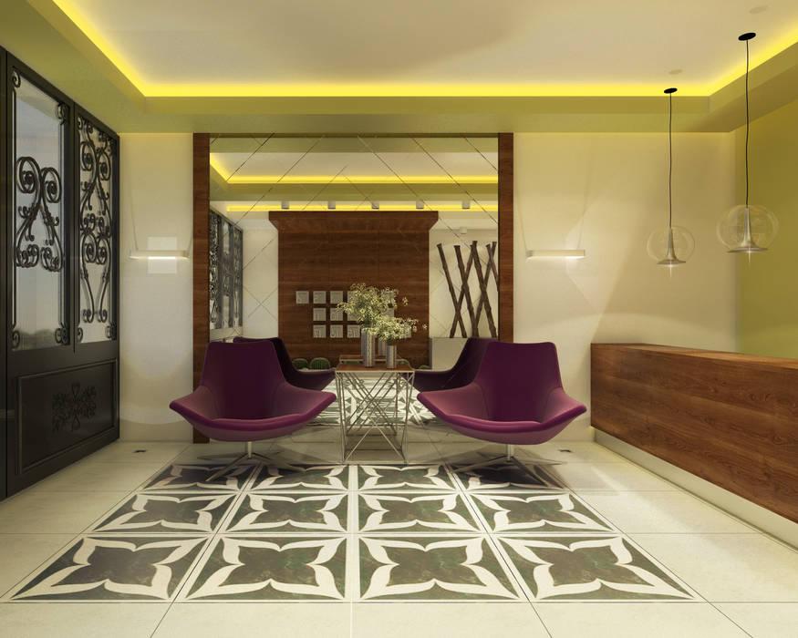 Modern Corridor, Hallway and Staircase by Ofis 352 Mimarlık Hizmetleri Modern