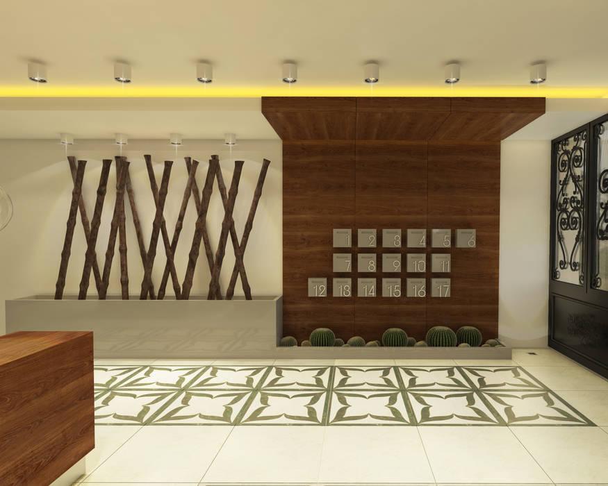 Pasillos, vestíbulos y escaleras de estilo moderno de Ofis 352 Mimarlık Hizmetleri Moderno