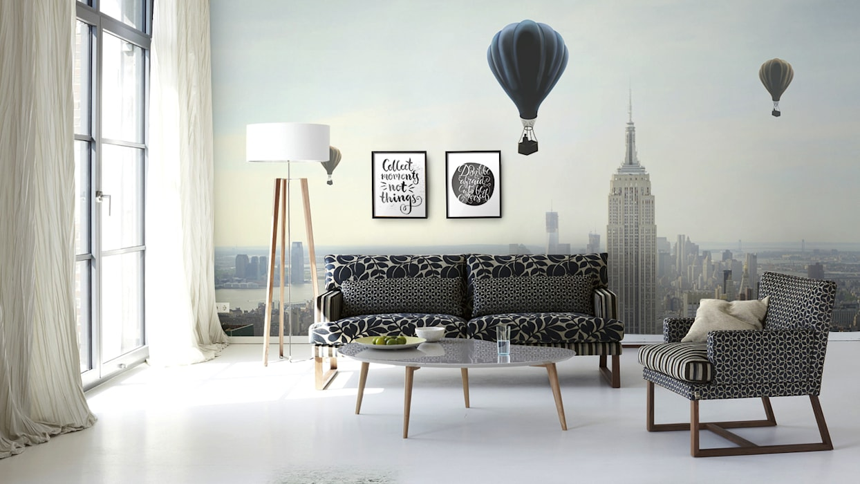 Air Ballon Scandinavian style living room by homify Scandinavian