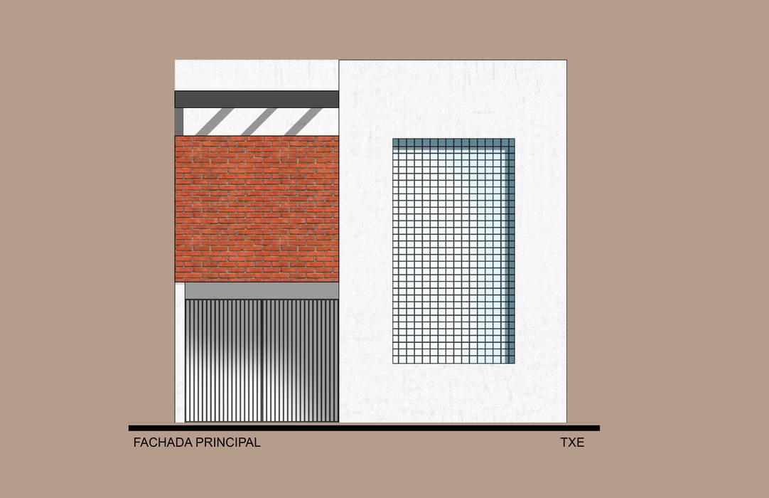 Fachada Principal: Casas de estilo moderno por ODRACIR