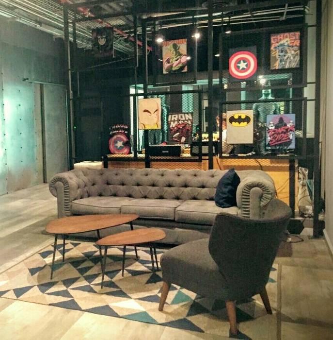 Estilo en muebles Corridor, hallway & stairsSeating Flax/Linen Grey