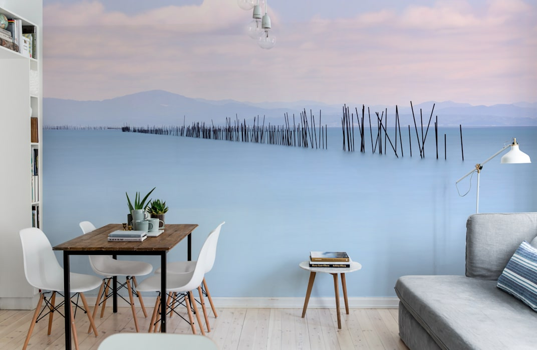 Lake under the snow Pixers Scandinavian style dining room Multicolored