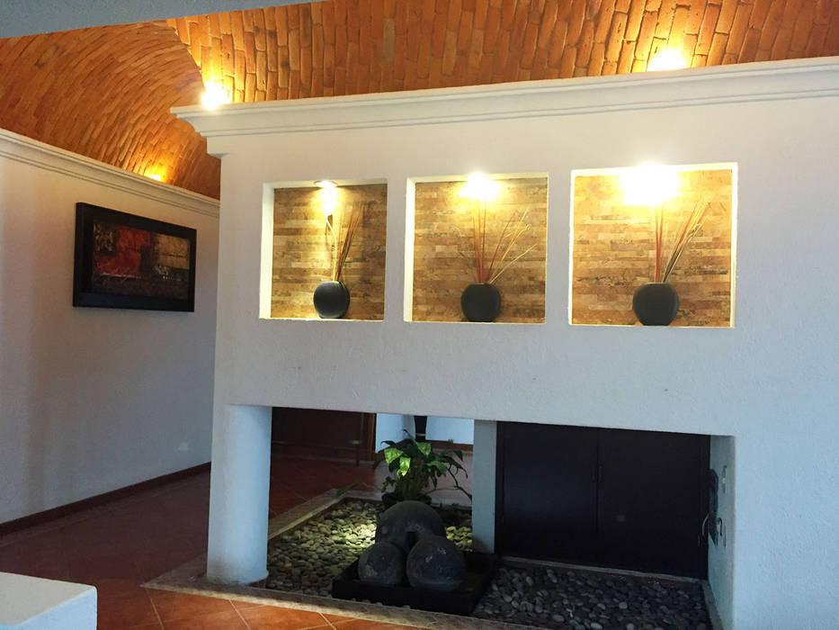 Pasillos y vestíbulos de estilo  por AMG Arquitectura Integral, Moderno Ladrillos