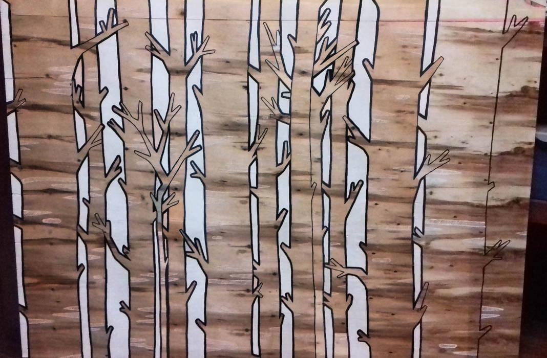 Cuadro Arboles de LM decoración Moderno