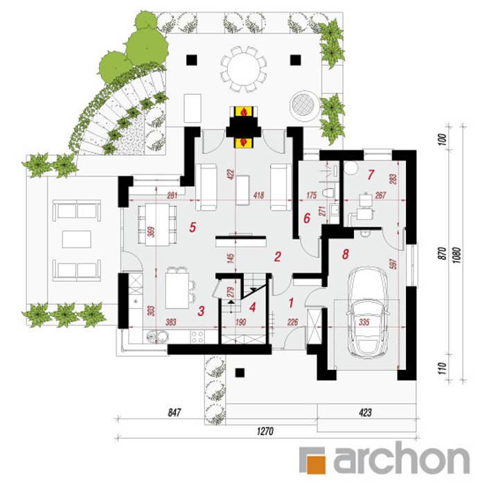 de style  par ARCHON+ PROJEKTY DOMÓW