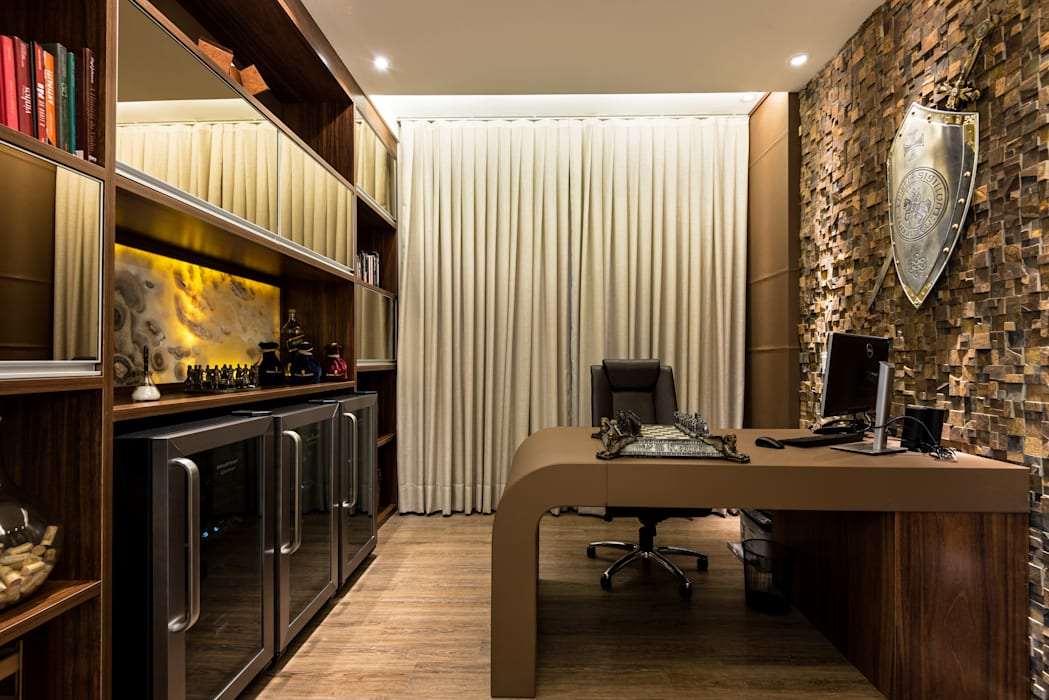 Casa Villa: Escritórios  por Designer de Interiores e Paisagista Iara Kílaris,Moderno
