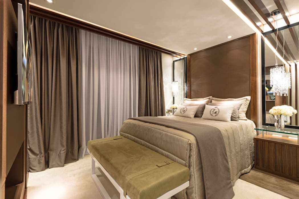 Dormitorios modernos de Designer de Interiores e Paisagista Iara Kílaris Moderno