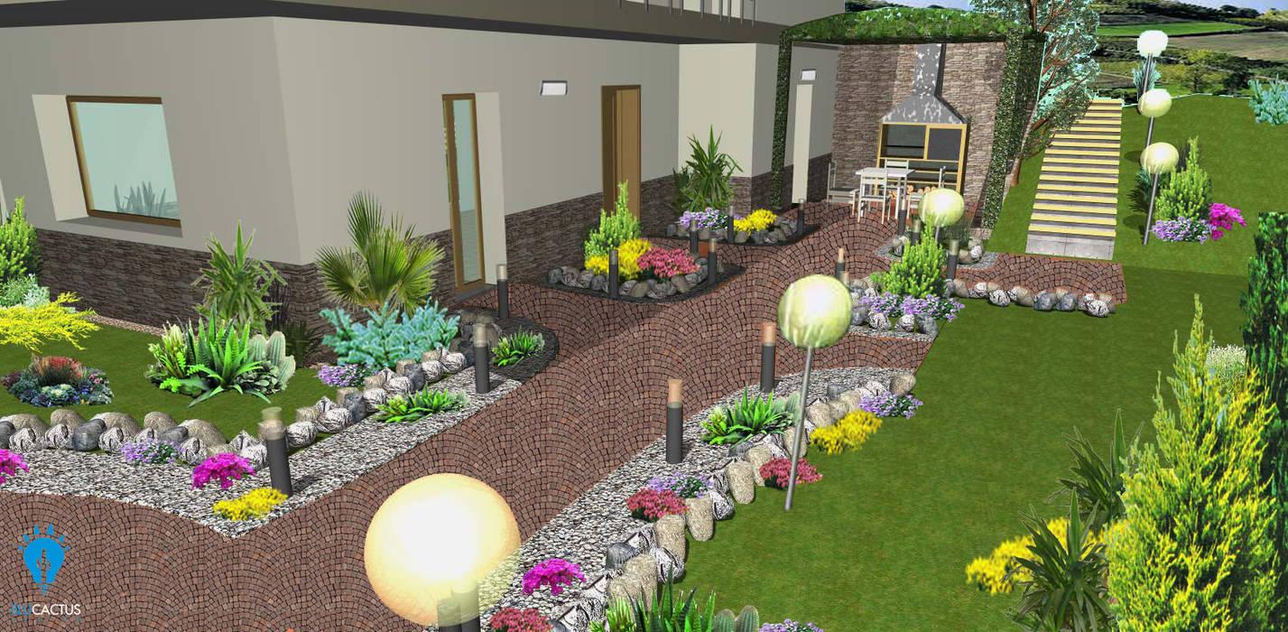 BluCACTUS Garden: Giardino in stile in stile Classico di blucactus design Studio