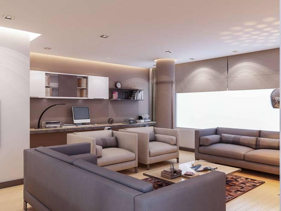 Yunus Emre - Alsancak Konut Modern Oturma Odası VERO CONCEPT MİMARLIK Modern