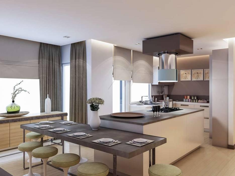 Yunus Emre - Alsancak Konut Modern Mutfak VERO CONCEPT MİMARLIK Modern