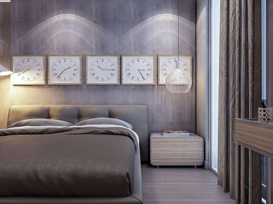 Yunus Emre - Alsancak Konut Modern Yatak Odası VERO CONCEPT MİMARLIK Modern