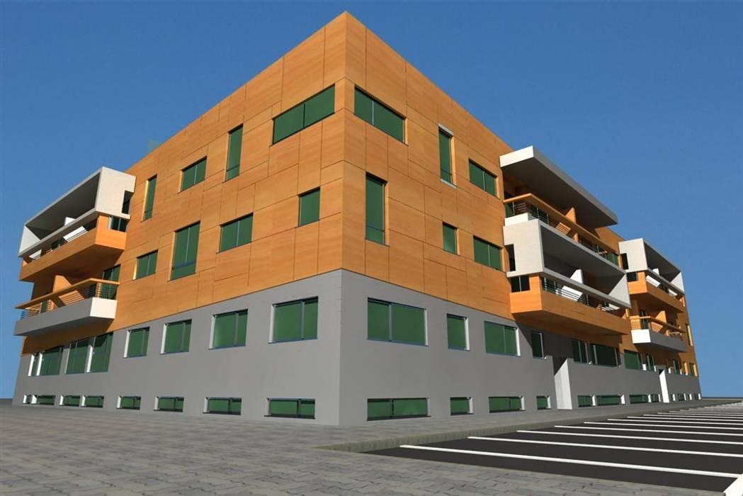 Edifício Praia Oeste - Praia da Barra Ilhavo Casas modernas por José Vitória Arquitectura Moderno