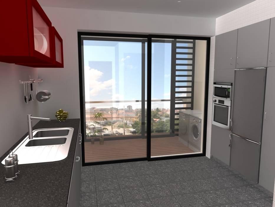 Edifício de Habitação colectiva - Varandas da Ria : Casas  por José Vitória Arquitectura,