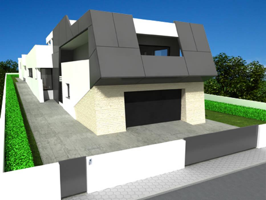 Casa isolada em S. Bernardo, Aveiro Casas modernas por José Vitória Arquitectura Moderno
