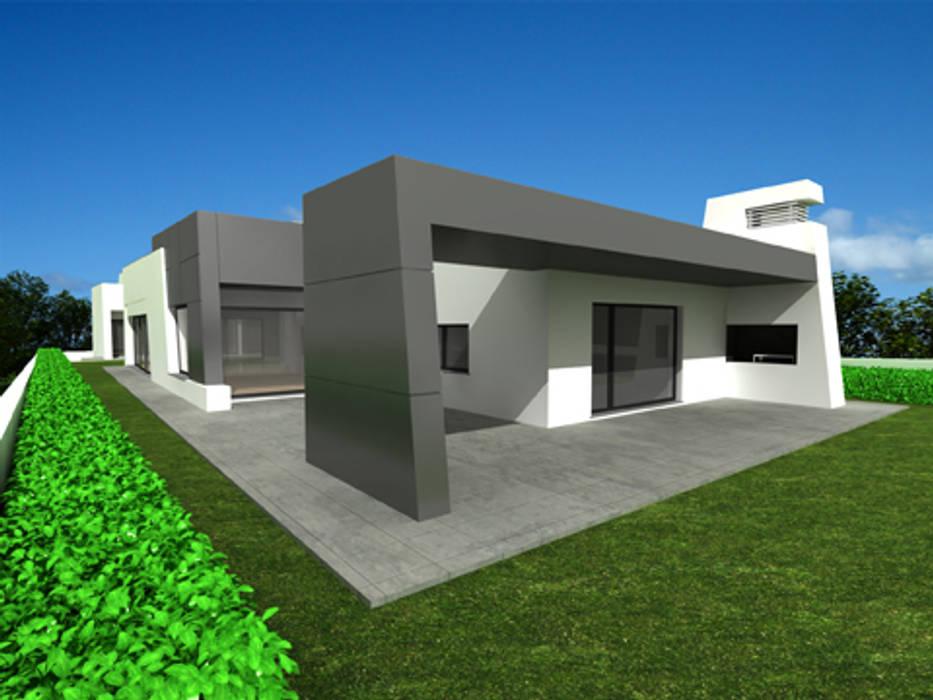 Casa isolada em S. Bernardo, Aveiro: Casas  por José Vitória Arquitectura