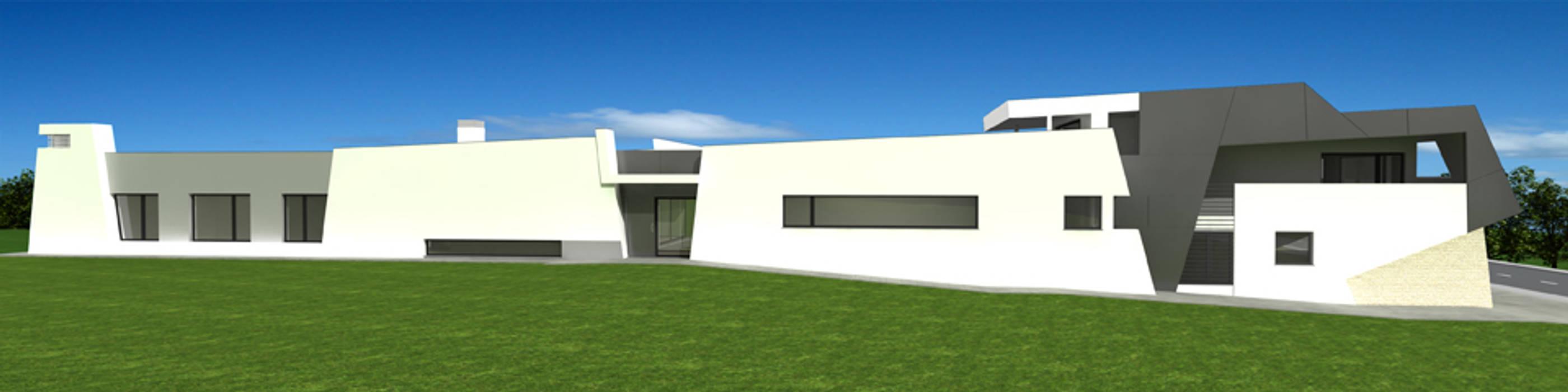 Casa isolada em S. Bernardo, Aveiro: Casas  por José Vitória Arquitectura,