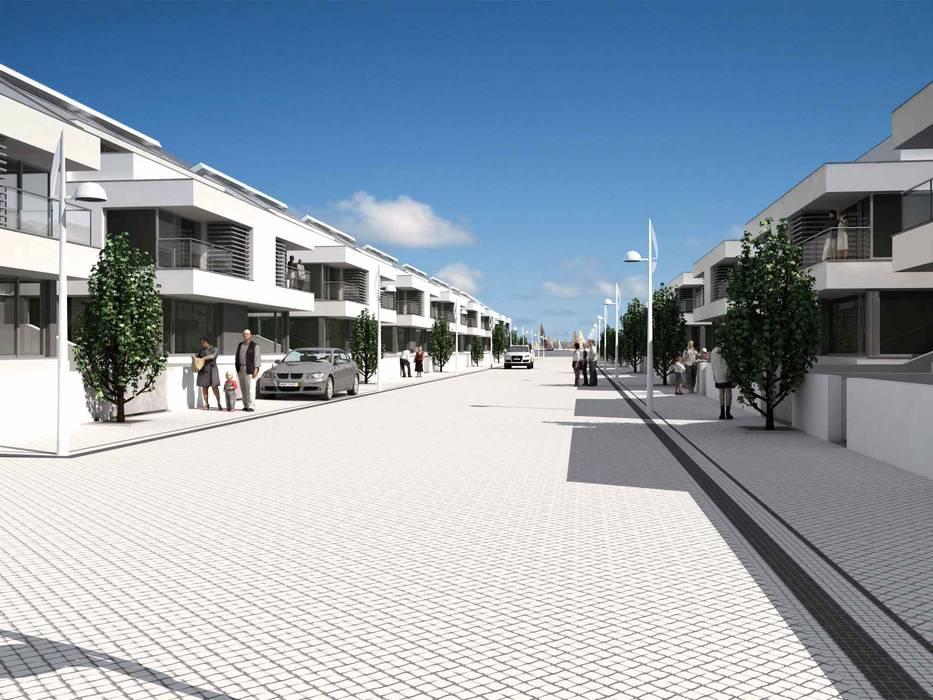 Loteamento Quinta Da Marina: Casas  por José Vitória Arquitectura,