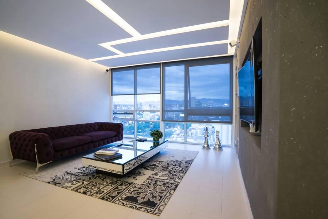 HO arquitectura de interiores Modern media room