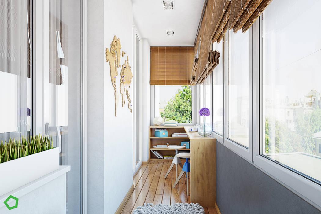 Terrazas de estilo  por Polygon arch&des, Minimalista