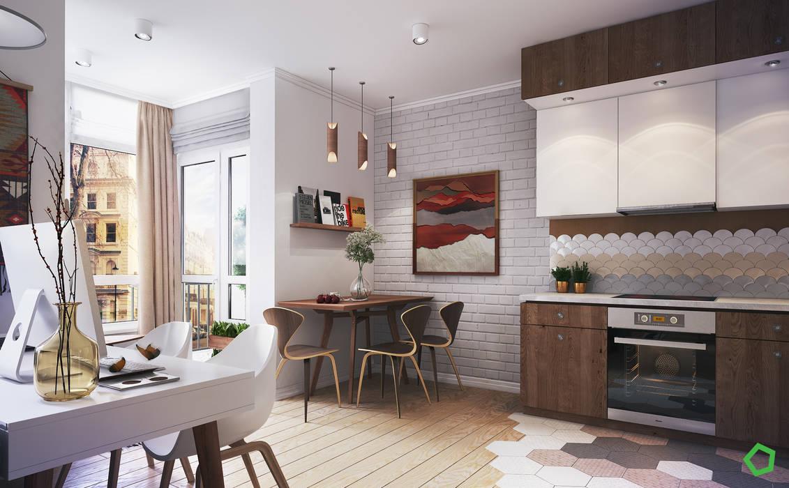Apartment Myalik: Столовые комнаты в . Автор – Polygon arch&des, Скандинавский